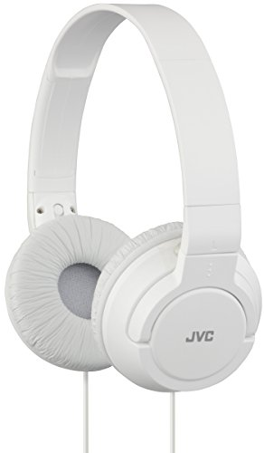 JVC HA-S180-W-E - Auriculares de Diadema Cerrados con Cable de 1,2m. Cascos Plegables y Ligeros con Sonido de Alta Calidad y Sistema Deep Bass. Color Blanco.