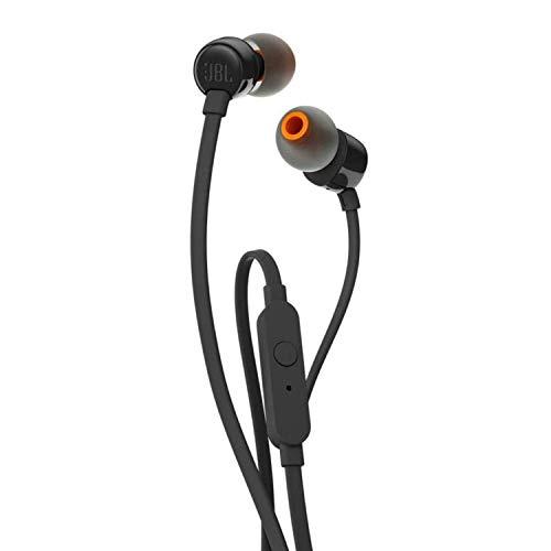JBL Tune 110 - Auriculares intraaurales Bluetooth con micrófono, negro