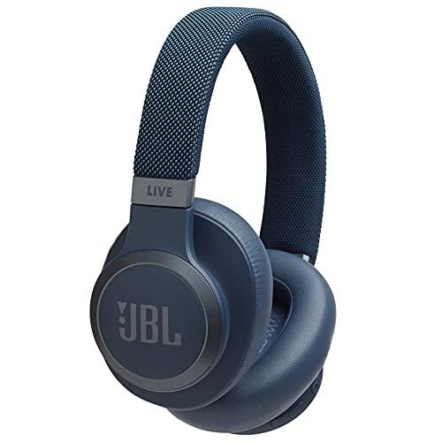 JBL LIVE 650BTNC - Auriculares Inalámbricos con Bluetooth y cancelación de ruido, sonido de calidad JBL con asistente de voz integrado, hasta 20h de música, Azul